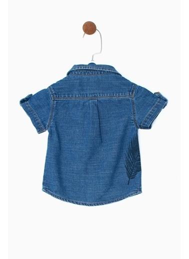 BG Baby Erkek Bebek Jean Gömlek 19SS0BG1601 Mavi